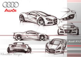 Audi R12 design by kris-burgos