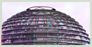 Reichstag dome 3D ::: HDR Anaglyph Stereoscopy by zour