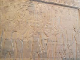 Kom Ombo wall carving - crowning by Skarkdahn