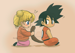 Usagi and Goku kids by The-PirateQueen