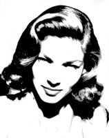 Lauren Bacall - Vectored 3 by musicgal3