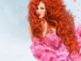 Red-haired girl by LonGrand