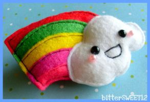 Over The Rainbow Brooch by bitterSWEETones