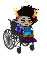 erebus with his ds by SpaceSquiddles
