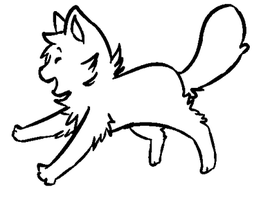 FREE Jumpy Cat Line Art by Freckled-Kat
