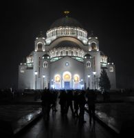 The Temple of St. Sava by maksimilijanus