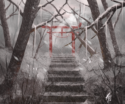 Torii Gateway [Winter] by KxG-WitcheR