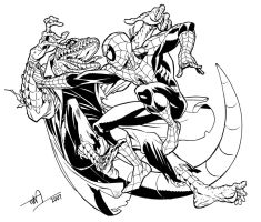 Lizard vs. Spider-Man by TimLevins