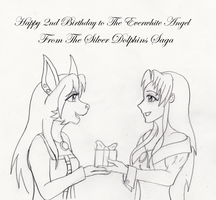 Happy 2nd Birthday to The Everwhite Angel by Gneiss-chert