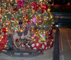 Christmas Rocking Horse by cynstock