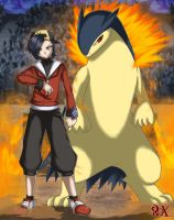 Trainer Gold And Typhlosion by FenRox