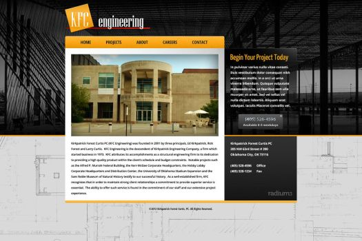 Engineering Firm Website by ipholio
