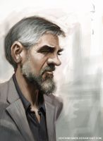 George Clooney by DevonneAmos