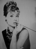 Audrey hepburn finished by WJLACEY