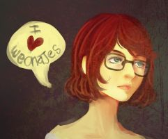 redhead by Watertae