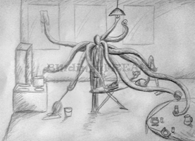 Slenderman doing houseweork by BMdinguFREAK