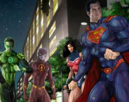 Justice league war redone 3  by charlesToles
