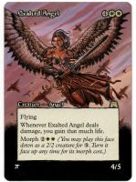 Exalted Angel Extention MtG Alter by iplaythisgame
