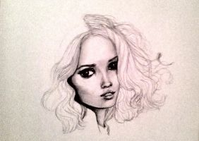Pencil sketch in progress by TamaraKane