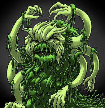 The Seaweed Monster - Kaiju Portrait Edition by Enshohma
