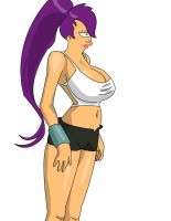 Leela pin-up 3 by strychnineFULLER