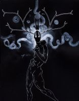 In The Dark The Spirits Come Out by manfishinc