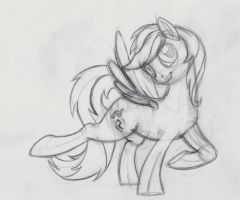 Four Block - Sketch (By BeechSprout) by Nerd-Pony