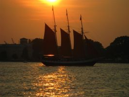 Sailboat Sunset by demboys18