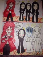 Grell and The Nuns by Gothicmewmew16