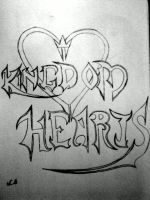 Kingdom Hearts logo by shadow-wolf04