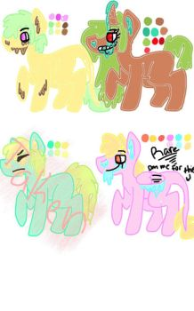 Slime pony adopts by FluffyTheCat12