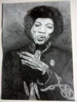 jimi hendrix drawing by flaviudraghis