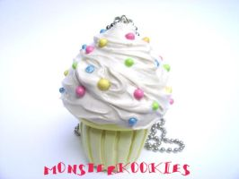 Vanilla Swirl Cupcake by monsterkookies