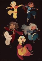 Family Tree - Aang and Katara by lesliesketch