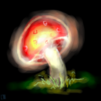 + Glowy Mushrooms - Oekaki + by Sc10