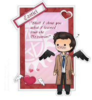 Supernatural Valentine # Cas by Micia96