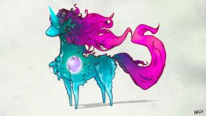 Bestiary:5 - Amoeba Unicorn by happip