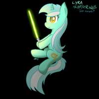 Lyra - With Lightsaber by RorySoarin