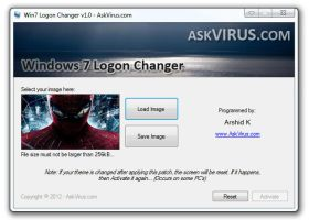 Win7 Logon Screen Changer v1.2 by Arshid-k