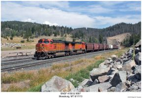 BNSF 4158 + 5687 by hunter1828