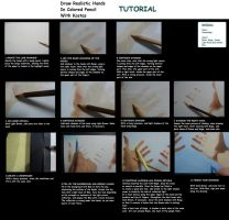 Colored Pencil Drawing Tutorial - Draw Real Hands by kakosuranosx
