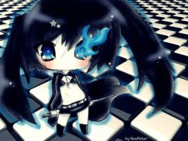 Chibi Black Rock Shooter by KaaMiiLa