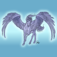 Pegasus 2 - Lineart for 300 points by Darya87