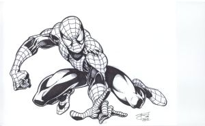 Spidey inked by bathill8