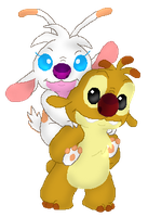 A Piggy Back Ride by Fishlover
