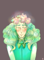 Irmo with flower wreath by MintyCake0