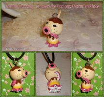 Animal Crossing - Zucker the Octopus Necklace by YellerCrakka