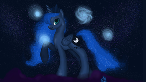 Luna's Friends by ArshnessDreaming