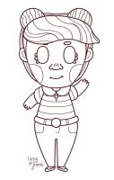 Chibi hello [lines] by lennyandfriends