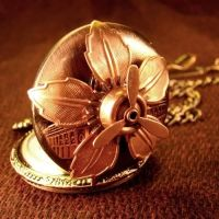 Copper Sci Fi Pocket Watch by Om-Society